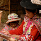 Quechua weavers, Peru